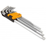 9pcs Extra Long Arm Allen Hex Ball L Key Set Hexagon Wrenches Metric