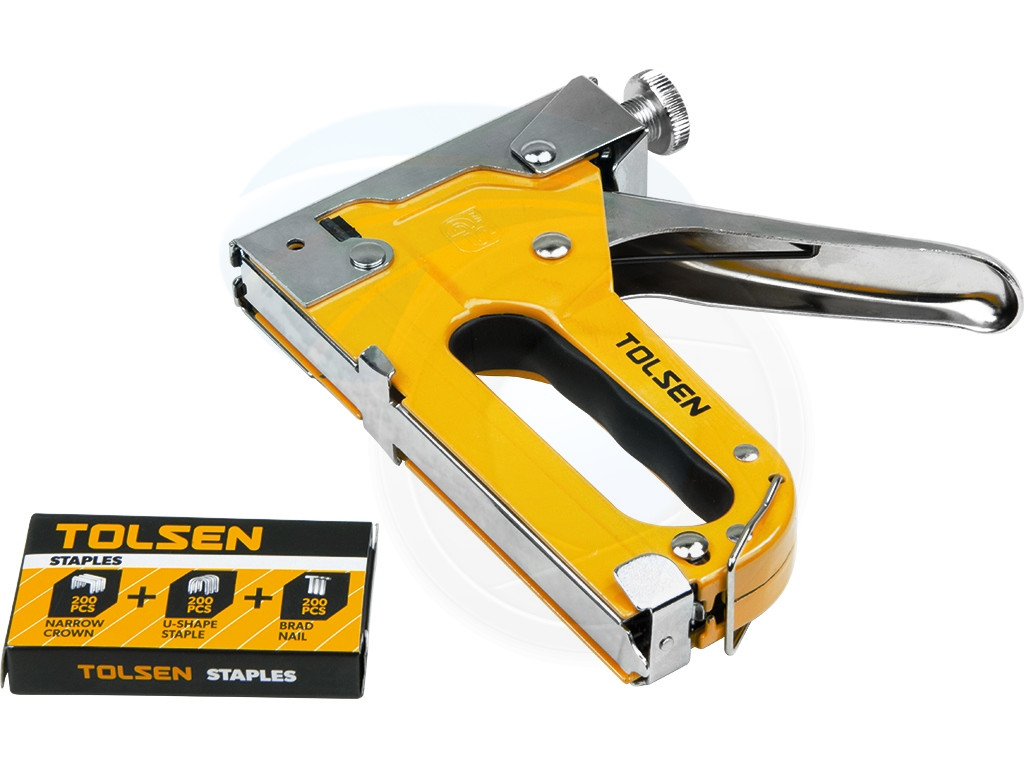 heavy duty chrome 3 way stapler staple gun nailer crown ushape nails