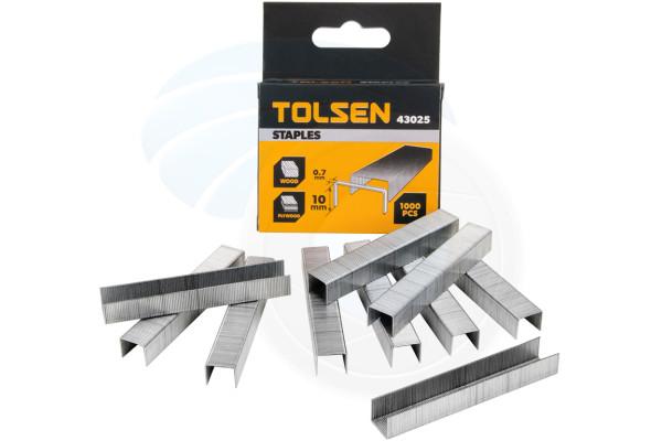 Tolsen 3/8 Heavy Duty Stapler Rustproof 1000pc Staples 0.7x10mm Staple