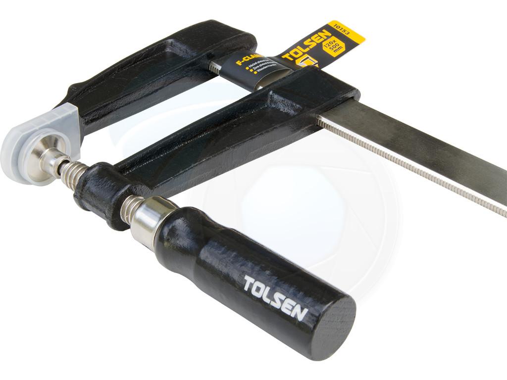 Heavy duty forged steel f clamp mm wood screw