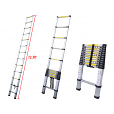 12.5Ft Light Aluminum Telescopic Telescoping Folding Extendable Ladder