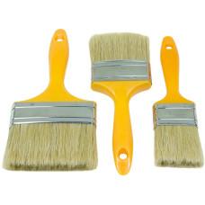 3pcs Flat Paint Cutting Brush Soft Bristle Hard Plastic Painting Stain