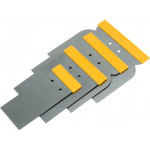 4pcs Scraper Set Steel Blades Putty Drywall Flexible Tapping Knife