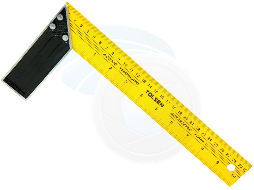 Electric Measuring Tools : Inches cm construction carpenter ruler l shape angle