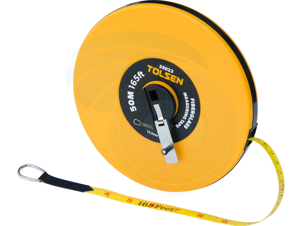 50m 165ft imperial metric fiberglass measuring tape reel