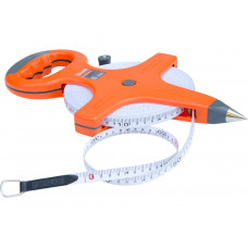 50Meter Constriction Metric Retractable Long Fiberglass Measuring Tape