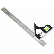Heavy Duty Stainless Steel Metric 300mm Combination Square Vial Ruler