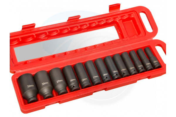 1/2inch 10mm-32mm 6Points Metric Drive Deep Impact Socket Air Tool Set
