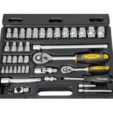 1/4 1/2inch Ratchet Wrench Atomotive Metric Mechanic 4-24mm Socket Set
