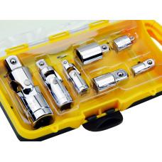 7pc 1/4 3/8 1/2 Drive Universal Joint Adapter Socket Set Flex U Joint