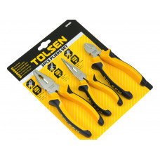 3pcs Insulated Combination Long Nose Diagonal Side Cutting Pliers Set