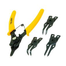 4pc Combination Circlip Snap Ring Plier Internal External ORing C-Clip