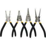 4pcs Internal External Retaining Clips Snap Ring Circlip Pliers Set