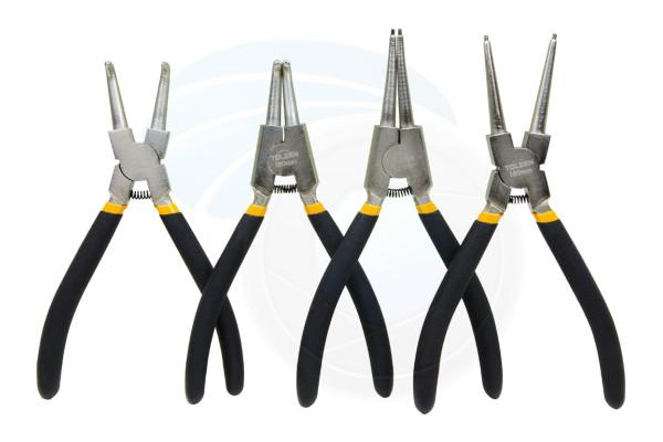 4pcs Internal External Retaining Clips Snap Ring Circlip Pliers Set