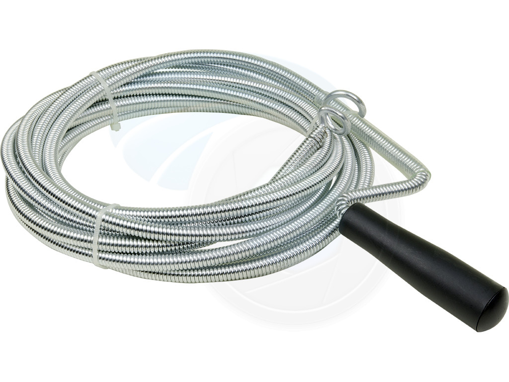 Drain Cleaning Cable : Plastic grip m feet snake spring pipe rod sink drain