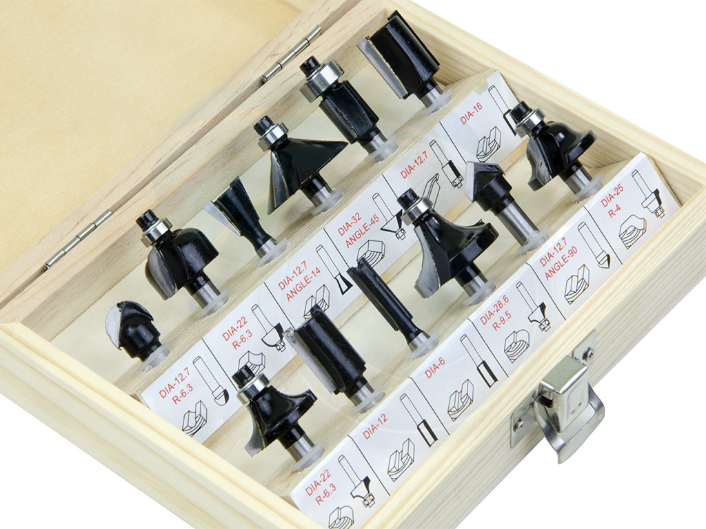 Power Tool Accessories 12pcs Router Bit Set Shank