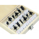 12Pcs Router Bit Set Shank Tungsten Carbide Rotary Tool Wood Case Box