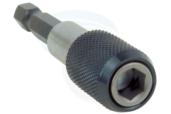 1/4 60mm Hex Shank Quick Release Drill Magnetic Screwdriver Bit Holder