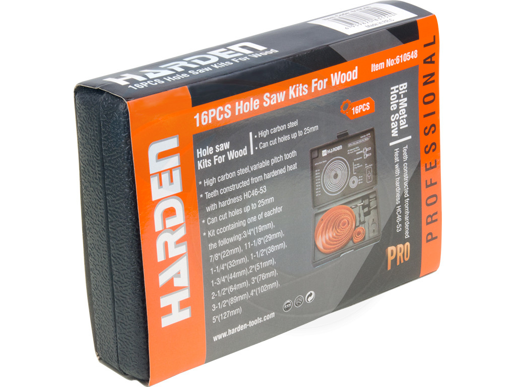 16pcs Hole Saw Pilot Drill Bit Kits for Wood Drywall Plywood