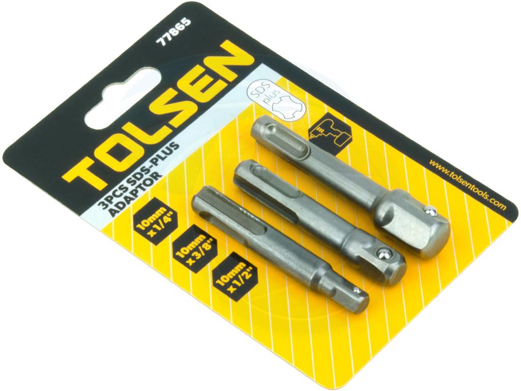 Impact Drill Bits Socket Adapter SDS Plus Converter 1//4 3//8 1//2 3 Pcs//Set