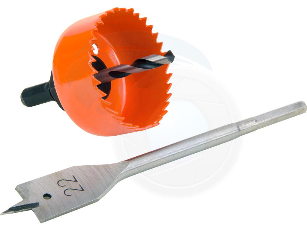 3pcs Hole Saw Cutting Set Kit Wood Lock Installation 54mm