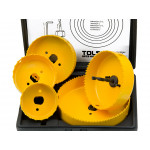 8pcs Hole Saw Set 64-127mm Wood Plastic Boring Drill Circle Cutter Set