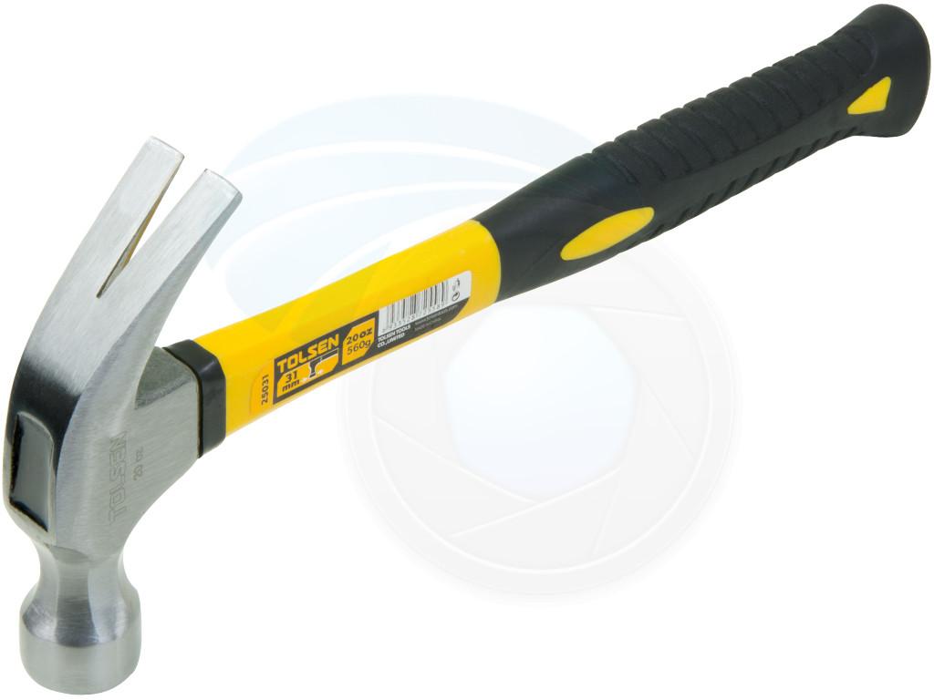 20oz 560g Claw Hammer Lightweight Fiberglass Smooth Face
