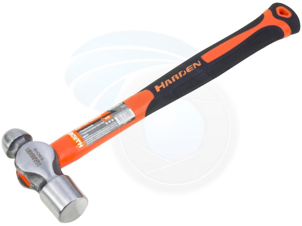 24oz Ball Pein Peen Hammer Cushion Grip Fiberglass Untislip Handle