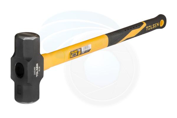 8Lb 36inch Heavy Duty Sledge Hammer Fibreglass Handle Rubberized Grip