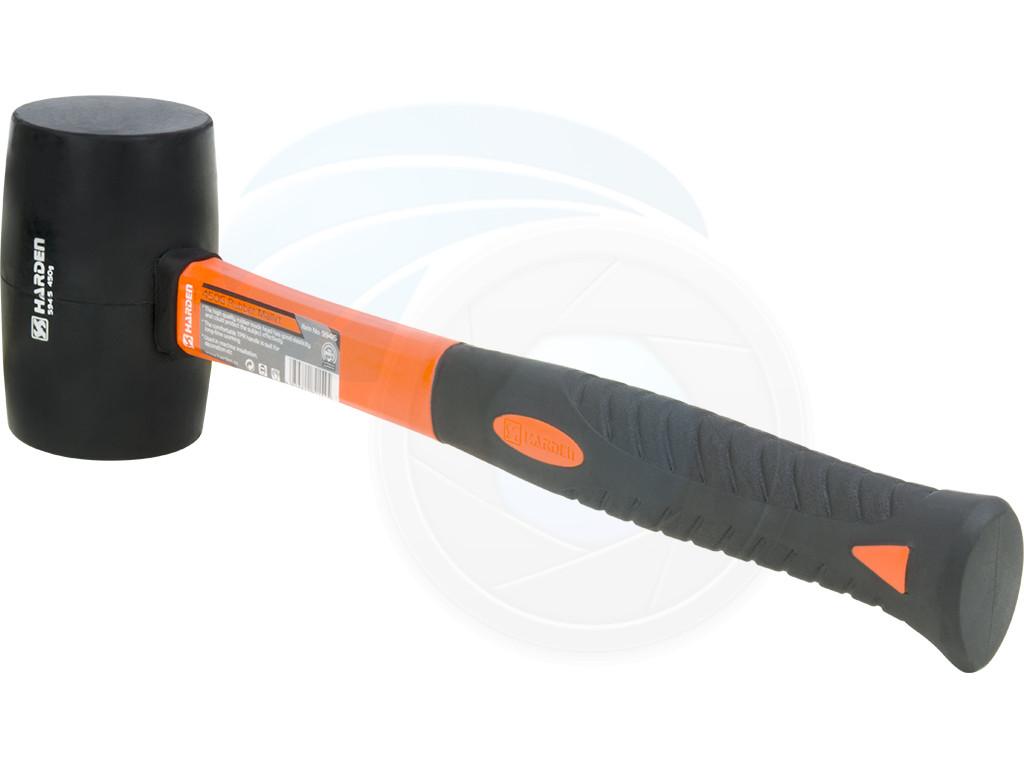 Medium White Rubber Mallet 16oz 450g Hammer Fiberglass TPR Handle Grip