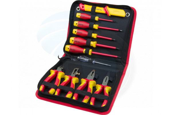 11pcs VDE Insulated Hand Tools Pliers Cable Stripper Screwdrivers Set