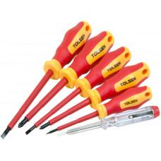 6pcs VDE Power Insulated 1000V Flat Phillips Handle Screwdrivers Set