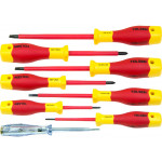 8pcs VDE Power Insulated 1000V Flat Phillips Handle Screwdrivers Set