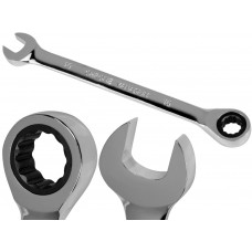 10mm Metric Chromed Ratchet Gear Spanner Fixed Head Combination Wrench