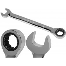 14mm Metric Chromed Ratchet Gear Spanner Fixed Head Combination Wrench