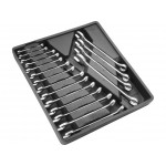 18pcs 6-24mm Open End 12pt Box Metric Combination Wrench Spanner Set