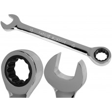 19mm Metric Chromed Ratchet Gear Spanner Fixed Head Combination Wrench