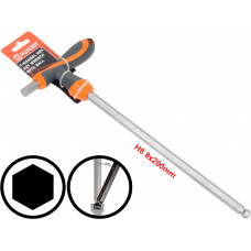 8mm T-Handle Hexagone Torque 6Point Hex Key CRV TPR Screwdriver Wrench