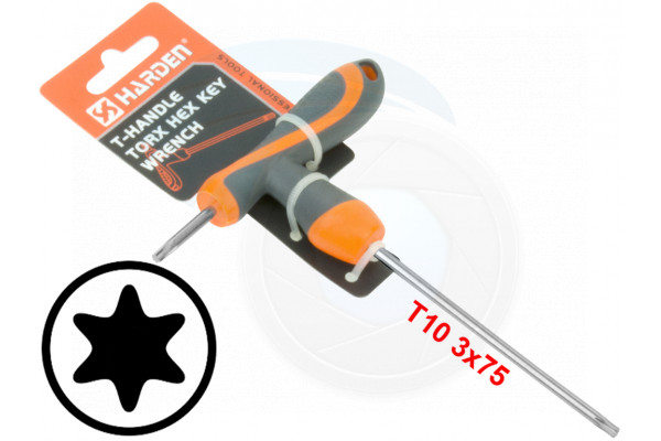 T10 T-Handle Torx Torque 6 Point Star Key CRV TPR Screwdriver Wrench
