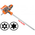 T45 T-Handle Torx Security Pin 6 Point Star Key CRV Screwdriver Wrench