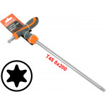 T45 T-Handle Torx Torque 6 Point Star Key CRV TPR Screwdriver Wrench