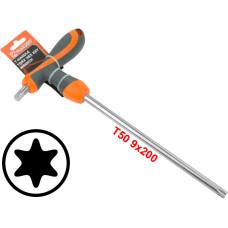 T50 T-Handle Torx Torque 6 Point Star Key CRV TPR Screwdriver Wrench