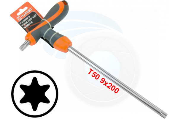 T50 T-Handle Torx Torque 6 Point Star Key CRV TPR Screwdriver Wrench