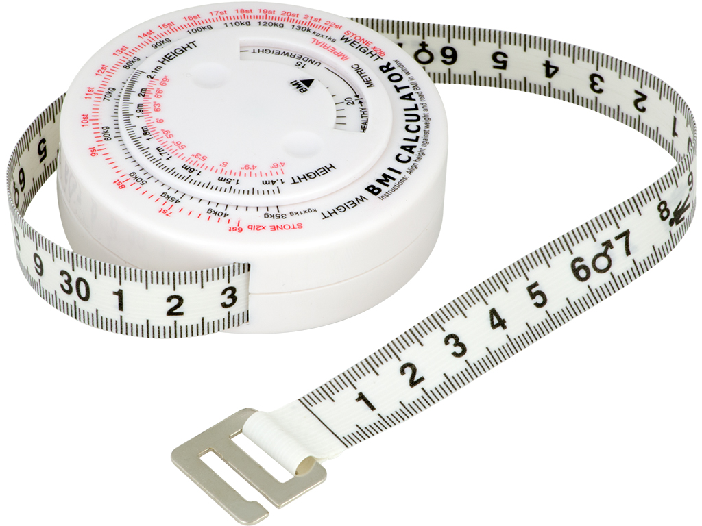 Body Mass Measuring Tape w// BMI Calculator Fitness Weight Loss Muscle Fat T W7