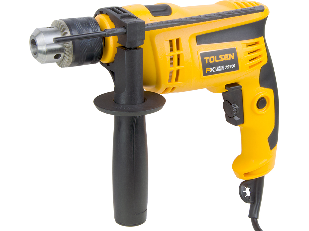 1 2inch Chuck Corded Electric Impact Hammer Drill 120v 6a With Handle Tools